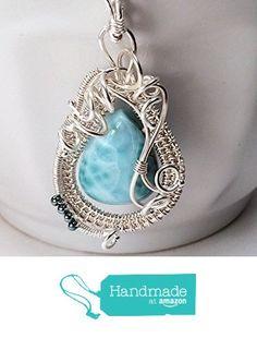 Larimar Silver Woven Rhythm of the Sea Pendant from SS Magpie http://www.amazon.com/dp/B016JNSDX2/ref=hnd_sw_r_pi_dp_4q7nwb0EMM19W #handmadeatamazon