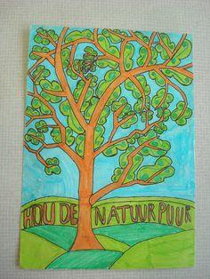 Decoratief tekenen: bomen met een boodschap