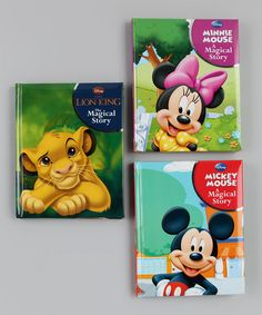 Take a look at this The Lion King, Mickey Mouse & Minnie Mouse Padded Hardcover Set by Parragon on #zulily today!