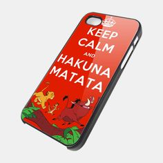 Hakuna Matata Lion king iphone 4/5,samsung s2,s2 cover case. $15.90, via Etsy. I want if I had an Iphone.