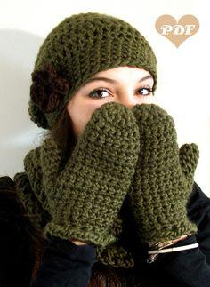 Häkelanleitung für winterliche Handschauhe, Fäustlinge / diy crochet instruction: how to crochet cloves by AppleBee Patterns via DaWanda.com