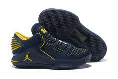 d7d0a15df498 Nike Air Jordan 32 University of Michigan Basketball Shoe For Sale Big Boys  Youth Jeunesse Shoes