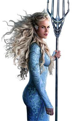 Aquaman - Promotional art with Nicole Kidman Nicole Kidman, Marvel Girls, Comics Girls, Dc Comics Art, Marvel Dc Comics, Supergirl, Aquaman 2018, Celebs, Celebrities
