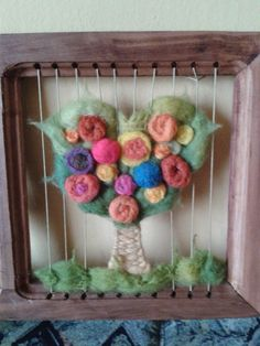 Tapestry Weaving, Crochet Necklace, Arts And Crafts, Wool, Home Decor, Craft, Felt Boards, Loom Beading, Crochet Trim