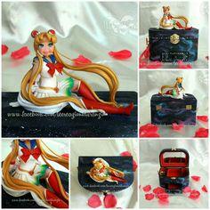 "Handmade music box of Sailor Moon!! :) Full video and more photos on my Facebook Fanpage ""Le creazioni di Franzin"". #sailormoon #sailormoonmusic #sailormoonmusical #sailormooncartoon #sailormoonmanga #sailormoonusagi #sailormooncrystal #usagi #carillon #usagimusicbox #sailormoonmusicbox #musicbox #anime #manga #sailor #moon #galaxy #acrylicpainting #lecreazionidifranzin #cofanetto #portagioie"