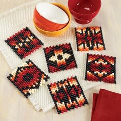 Peyote Patterns, Loom Patterns, Beading Patterns, Native Beadwork, Native American Beadwork, Motifs Perler, Beaded Banners, Nativity Crafts, Peyote Beading