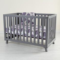 Love the gray crib!