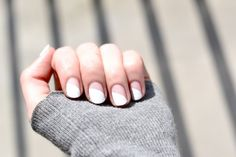 Curved Nude & White Manicure - From Lovely By Lucy