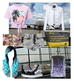 """""""Airport style"""" by regulus-star ❤ liked on Polyvore featuring Carmar, Miss Selfridge, Vans, Mark Cross and Heys"""