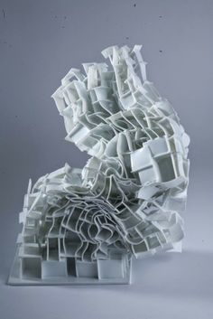 "Babos Pálma ~ ""Collapse"" Ceramics - Seventh edition of the Biennial El Vendrell 2013 in Spain Winner via ceramics. Materials And Structures, Geometry Shape, Digital Museum, Design Research, Sculpture Art, Ceramic Sculptures, Weird And Wonderful, Art Object, Installation Art"
