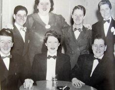 1945 at Mona's Club Vintage Lesbian, Lesbian Love, Vintage Ladies, Straight People, Drag King, Women In History, History Pics, History Projects, We Are The World