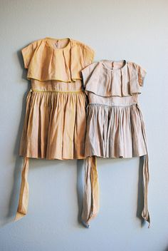 tea-stained dresses
