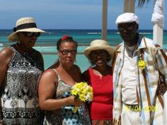 In Jamaica - Vow renewal of my brother & sister-in-law & Auntie Sylvia