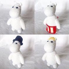 Crocheted Moomins Crochet pattern by CatKnit Crochet Yarn, Crochet Toys, Crotchet, Moomin, Quilt Patterns, Crochet Patterns, Christmas Knitting Patterns, Plymouth Yarn, Paintbox Yarn
