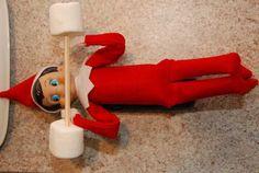 Elf on the Shelf Idea – Lifting Weights