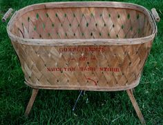 Early Primitive Antique Old General Store Grocery Basket