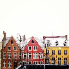 Bruges, Belgium. I could spend all day wandering through the cobblestone streets. The lace shops were amazing!