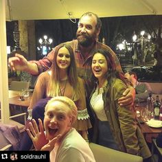 Lumberjack ❤️ Rory McCann and Gwendoline Christie with fans