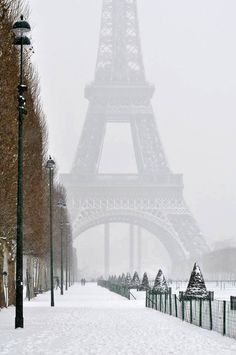 Paris ... Snowy day