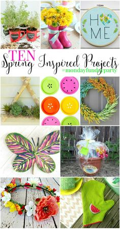 10 Spring Inspired Projects via #MondayFundayParty Wait Til Your Father Gets Home