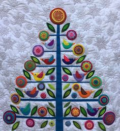 "I'm very happy to say that I've finished one of my 2016 goals - the ""Oh Christmas Tree"" quilt designed by Wendy Williams. I've spent the las..."