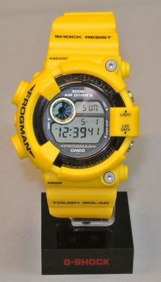Casio G-Shock DW-8200 Frogman Yellow *Custom *slight use *Japanese One of a Kind #Casio #Sport