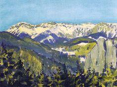 Koloman Moser – Landscape in Semmering, 1913