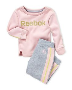 (Toddler Girls) Two-Piece Logo Pullover & Sweatpants Set - Winter Outfits Fall Toddler Outfits, Lazy Day Outfits, Cute Girl Outfits, Kids Outfits, Girls In Leggings, Girls Jeans, Girls Pjs, Toddler Girls, Junior Girls Clothing