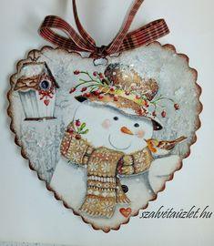 Halloween Ornaments, Christmas Tree Ornaments, Decoupage, Handmade Christmas Tree, Vintage Fashion, Holiday Decor, Cards, Fabric Hearts, Christmas Ornaments