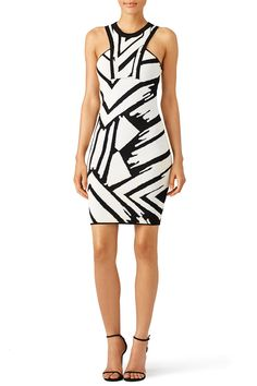 f7505dffa278 Ronny Kobo Black Printed Jordi Sheath Black and white printed sheath dress.  Perfect for a summer bachelorette party!