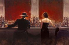 Jointed Brent Lynch's Cigar Bar and Evening lounge Brent Lynch oil painting reproduction Bar Kunst, Bar Music, Music Mix, Jack Vettriano, Cheap Wall Art, Cigar Art, Edward Hopper, Oil Painting Reproductions, Angel Art