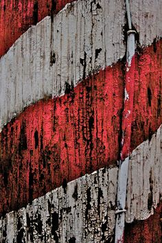 Abstract Fine Art Photography Red White Stripes by sherilwright