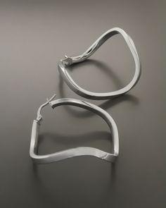 Σκουλαρίκια κρίκοι Ασημένια