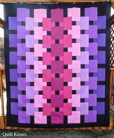 """The pattern for this quilt is called """"Magic Carpet,"""" and it is designed by Christina Cameli."""