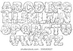 Trendy font made in hand drawn line sty… – Graffiti World Graffiti Lettering Alphabet, Tattoo Lettering Fonts, Graffiti Font, Graffiti Drawing, Lettering Styles, How To Draw Graffiti, Graffiti Alphabet Styles, Graffiti Tattoo, Lettering Tattoo