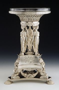 Silver fruit stand by Paul Storr 1813 Art Nouveau, Silver Centerpiece, Fruit Stands, Silver Work, Metal Artwork, Art Object, Decorative Accessories, Antique Silver, Silver Jewelry