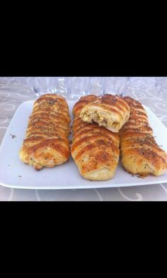 #Gevlochten broodjes met kipvulling