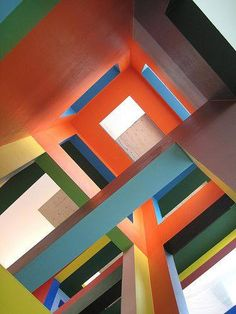 Ptuj Performance Center / ENOTA Architecture Colourful lines at the Dick Bruna House, Utrecht, The Netherlands utsav house ~ by studio mumba. Art Et Architecture, Amazing Architecture, Installation Architecture, Contemporary Architecture, Utrecht, Design Set, Pop Design, Design Color, Color Inspiration