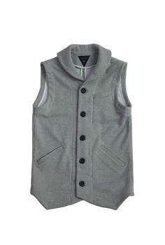 servum versus venom - seersucker, knit chore vest