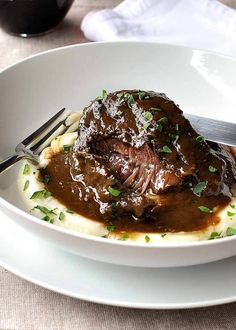 These slow cooked beef cheeks are braised in red wine. So meltingly tender you can eat it with a spoon with a luscious smooth sauce with incredible flavour. Meat Recipes, Slow Cooker Recipes, Cooking Recipes, Cooking Beef, Cooking Wine, Cooking Broccoli, Oven Cooking, Barbecue Recipes, Cooking Food