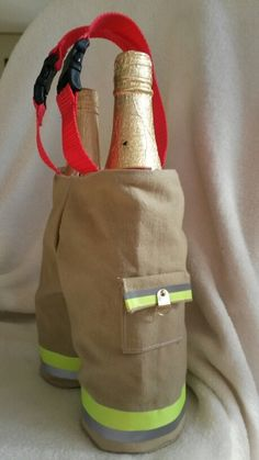 Firefighter wine/bottle carrier