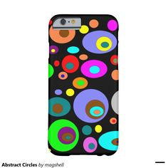 Abstract Circles Barely There iPhone 6 Case
