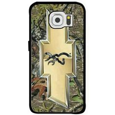chevrolet logo chevy camo browning deer Samsung Galaxy s6 iphone 6 Rubber case