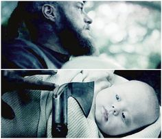 Ragnar deciding on the life of his son Ivar Boneless.