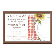 Country Placesetting Engagement Party Invitation