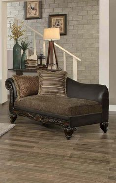 Homelegance Thibodaux Chaise in Brown - 8233TT-5 *also available with matching sofa and loveseat!*
