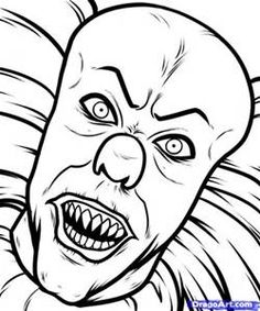 Scary Horror Coloring Pages - Bing images                                                                                                                                                     More