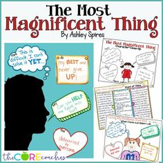3rd and 4th graders will love these activities to go along with the book, The Most Magnificent Thing