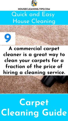 The Carpet Cleaning Guide: Discover What It Takes To Keep Your Carpet Looking Good #carpetcleaning #carpetcleaningtips #vacuumcleaners Clean 9, Commercial Carpet, Cleaning Service, How To Clean Carpet, Clean House