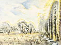 February Wind And Sunlight (the Wind Harp) Artwork by Charles Burchfield